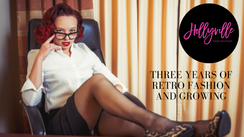 Three Years of Retro Fashion with Hollyville and Growing