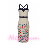 Kiana Danube Floral Pencil Dress by Collectif Mainline