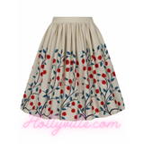 Jasmine Danube Floral Swing Skirt by Collectif Mainline