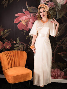 1930's Lounging Robe in Peach by What Katie Did