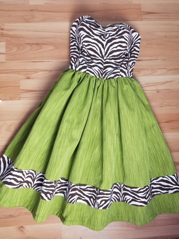 Zebra Chartruese Women's Dress by PMdesigns by Pamela Marie Small