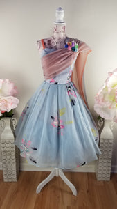 1950's Vintage Cupcake Prom Dress Small