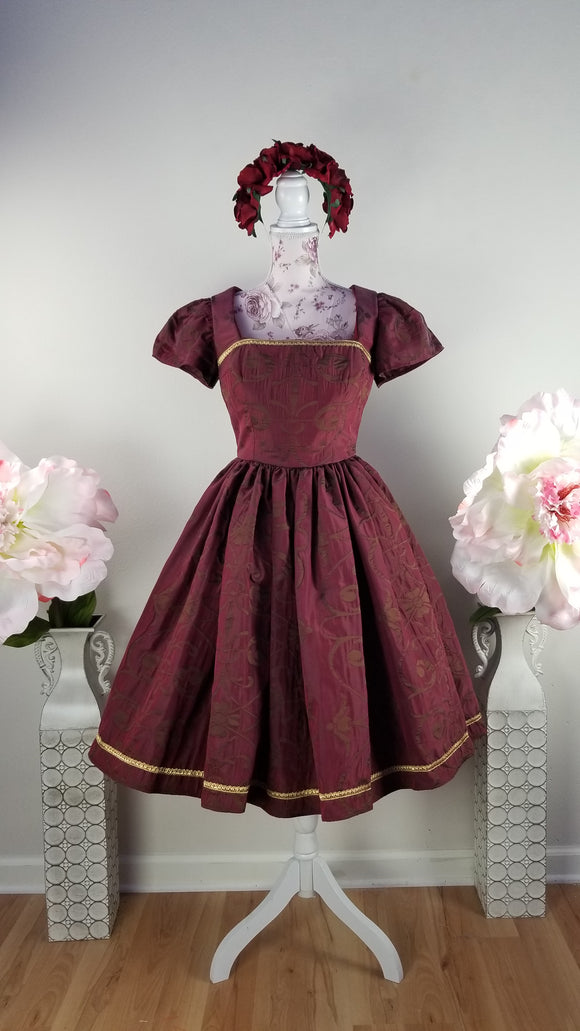 Rich Burgundy Evening Dress by PMdesigns by Pamela Marie Small