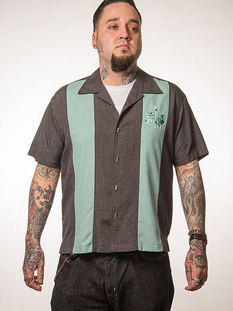 The Mickey Button Up Men's Shirt in Charcoal by Steady Clothing