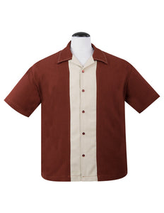 Big Daddy Button Up Shirt In Rust