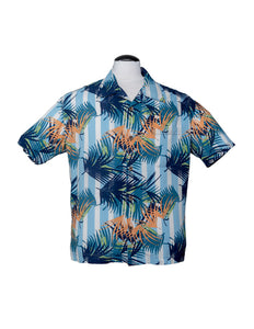 Blue Oasis Button Up Hawaiian Shirt by Steady Clothing