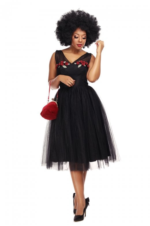 Vintage Claudette Occasion Swing Dress by Collectif