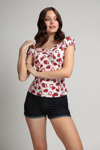 Dolores Strawberry Top by Collectif Mainline