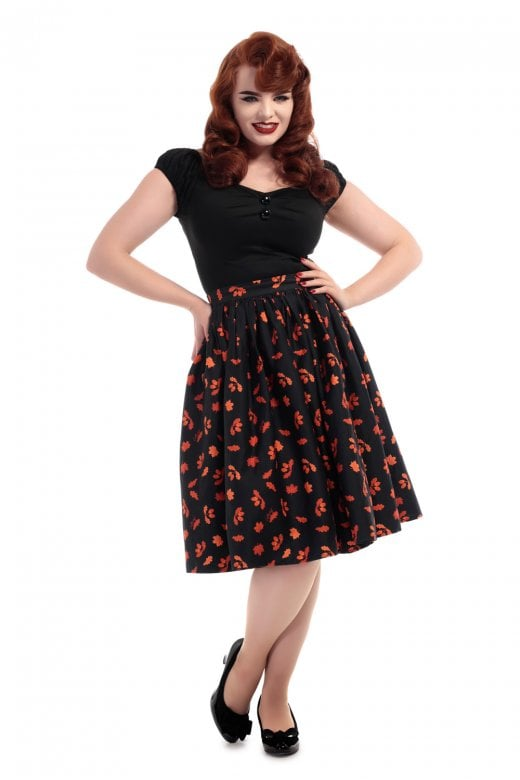 Jasmine Acorn Women's Swing Skirt by Collectif
