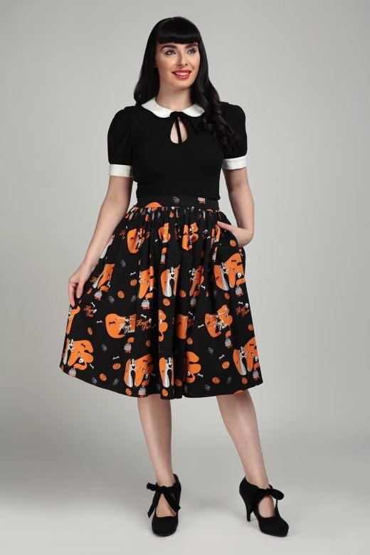 Jasmine Hocus Pocus Swing Skirt by Collectif Mainline