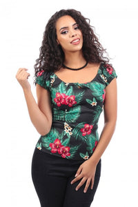 Lorna Tropical Paradise Top by Collectif