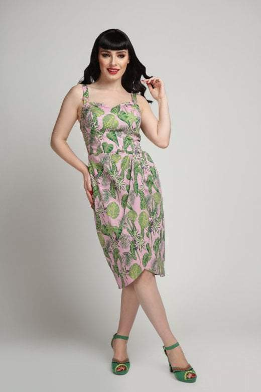 Mahina Forest Pencil Dress by Collectif Mainline