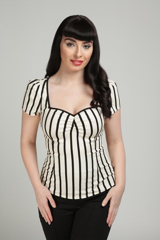 Mini Ghost Stripes Top by Collectif Mainline