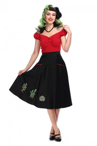 Silvia Cactus Swing Skirt by Collectif
