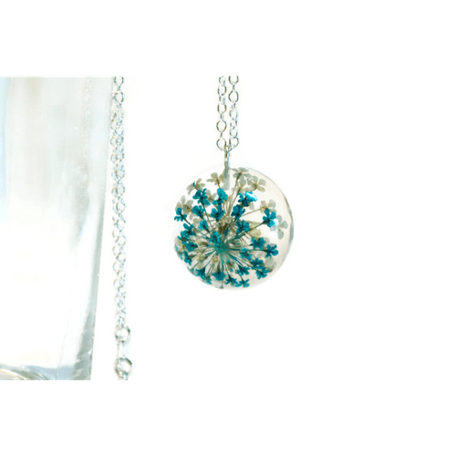 Blue and White Queen Anne's Necklace