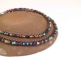 Boho Picasso Copper Anklet with Dangles - Small Beads
