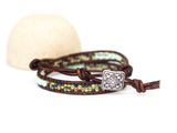 2x Mint Green Multi Wrap Bracelet