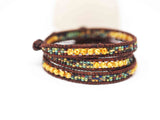 3x Yellow Picasso Multi Wrap Bracelet