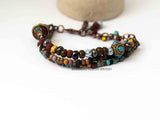 Tribal Multistranded Purple Picasso Bracelet