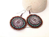 Tribal Picasso Round Earrings
