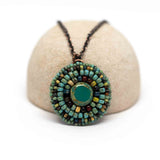 Turquoise Picasso Circle Necklace