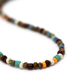 Unisex Boho Aged Gala Striped Necklace