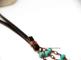 Triple Coral Turquoise Necklace
