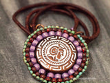 Large Purple Turquoise Coin Necklace