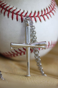 Original Baseball Cross Pendant