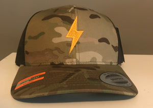Camo Bolt Trucker Hat