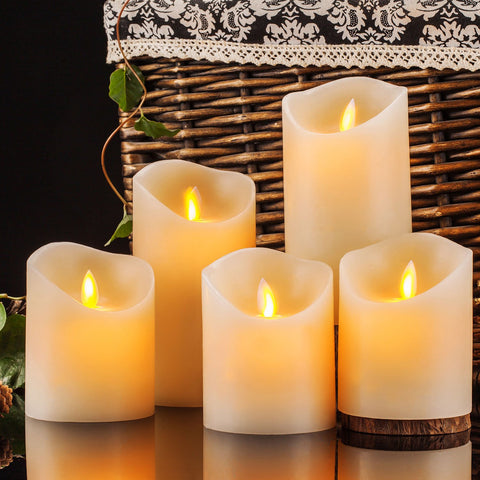 Moving Wick Pillar Candles