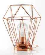 Load image into Gallery viewer, Geometric Metal Cage Lamp - Rose Gold - Chronos