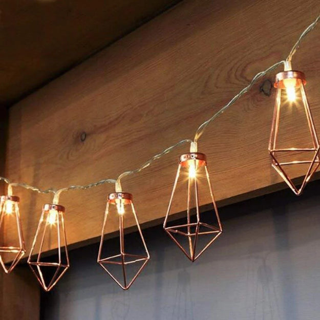 Diamond String Lights - 3AA Battery + USB Operated | Rose Gold - Chronos