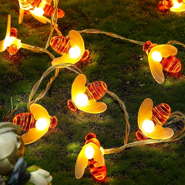 Honey Bee String Lights - Warm White - Chronos