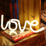 Load image into Gallery viewer, Neon Sign Lamp Wall Hanging | Battery & USB Operated | Love