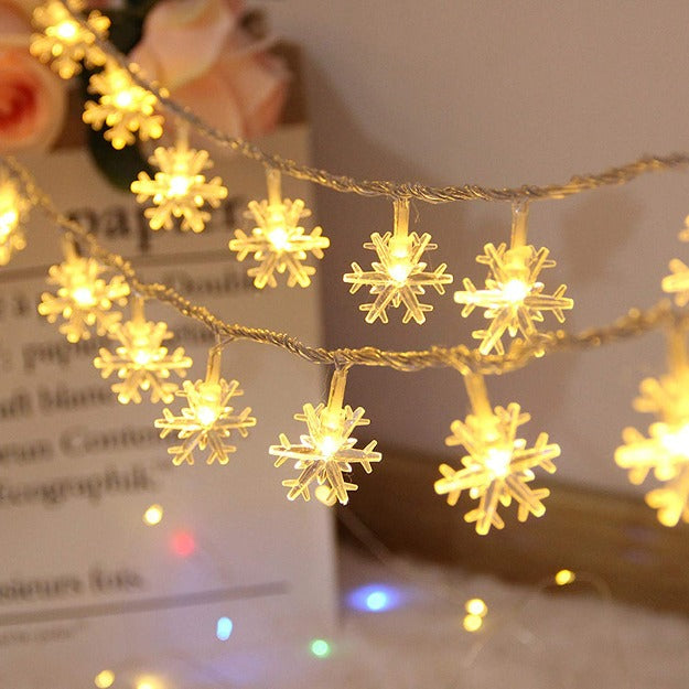 Snowflake String Lights - Warm White LED Chronos