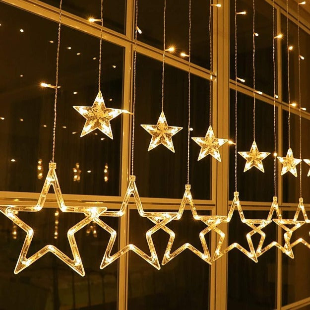 Star Curtain Lights | Warm White LED | 138 LEDs