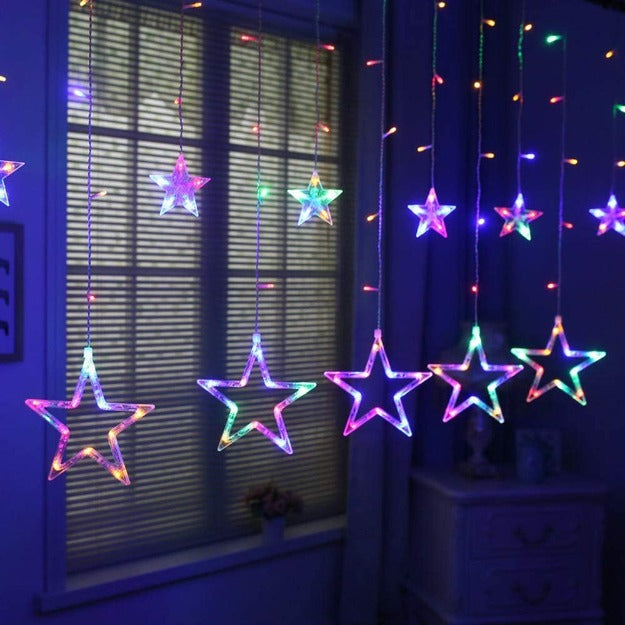 Star Curtain Lights | Multi LED | 138 LEDs