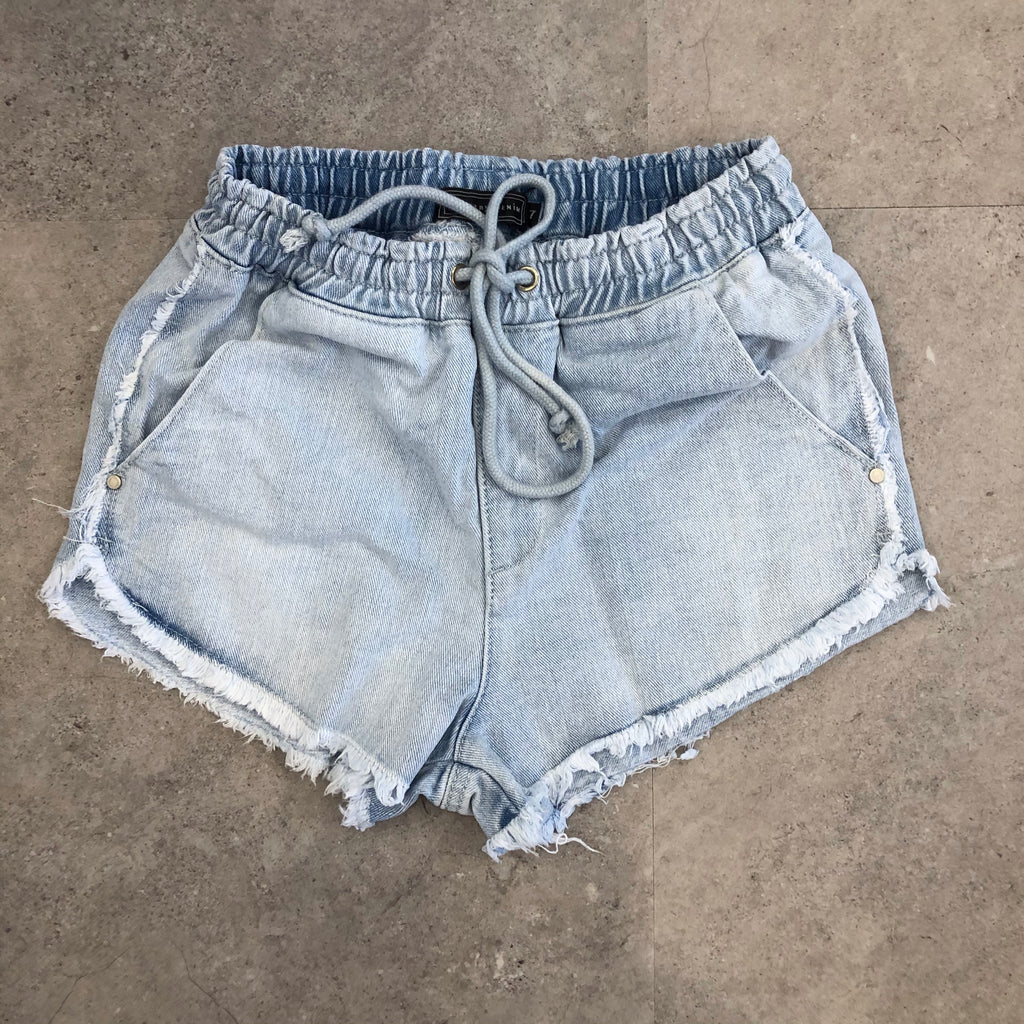 Walker Fray Denim Shorts