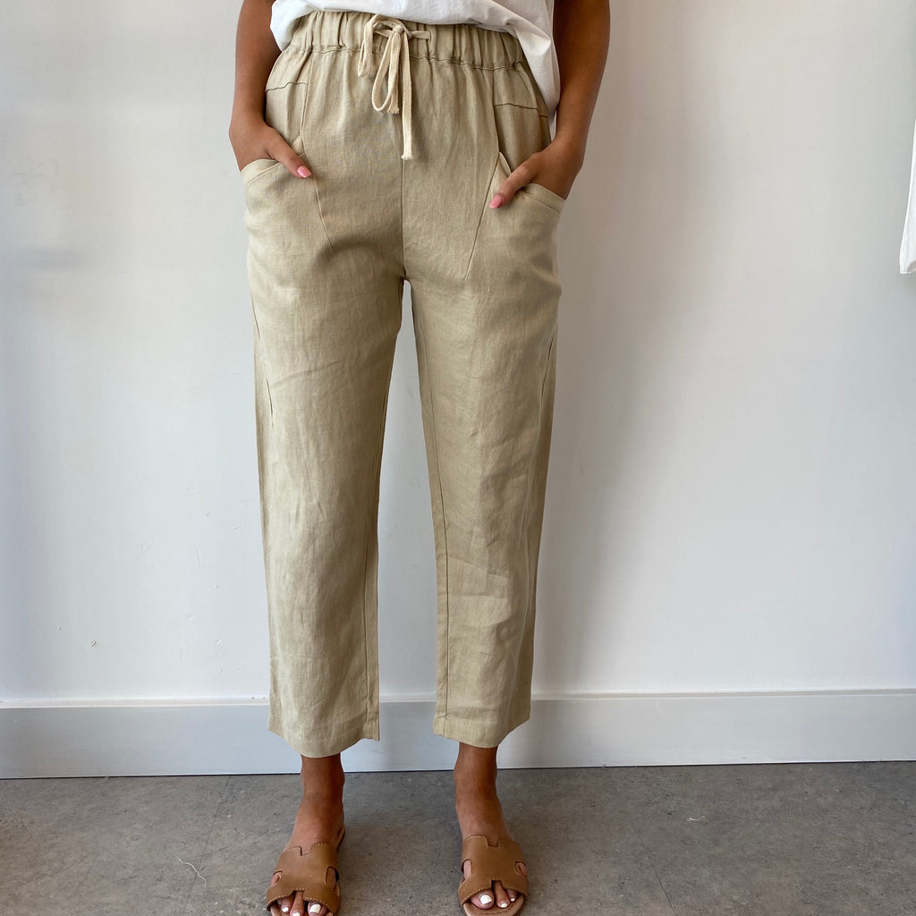 Luxe Latte Linen Pants