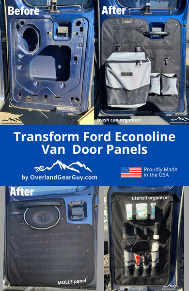 Ford Econoline Van Inside Door Panel Organizers