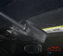 Load image into Gallery viewer, Custom Sun Visor Radio Pouch, custom FRS radio pocket for car