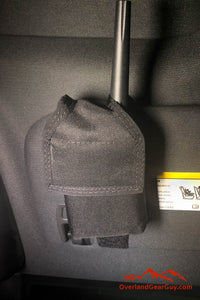 2 way radio pocket, Sun Visor Radio Pouch, custom FRS radio pocket car, GPS pocket