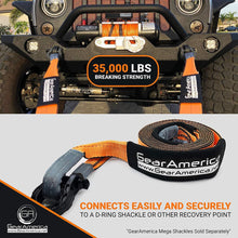 "Load image into Gallery viewer, Heavy Duty Recovery Tow Strap 3"" x20' 