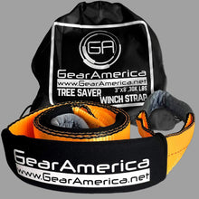 "Load image into Gallery viewer, Gear America Heavy Duty Tree Saver Winch Strap 3"" x 8' 