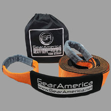 "Load image into Gallery viewer, GearAmerica Heavy Duty Recovery Tow Strap 3"" x20' 