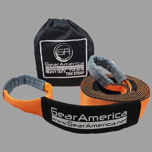 "GearAmerica Heavy Duty Recovery Tow Strap 3"" x20' 