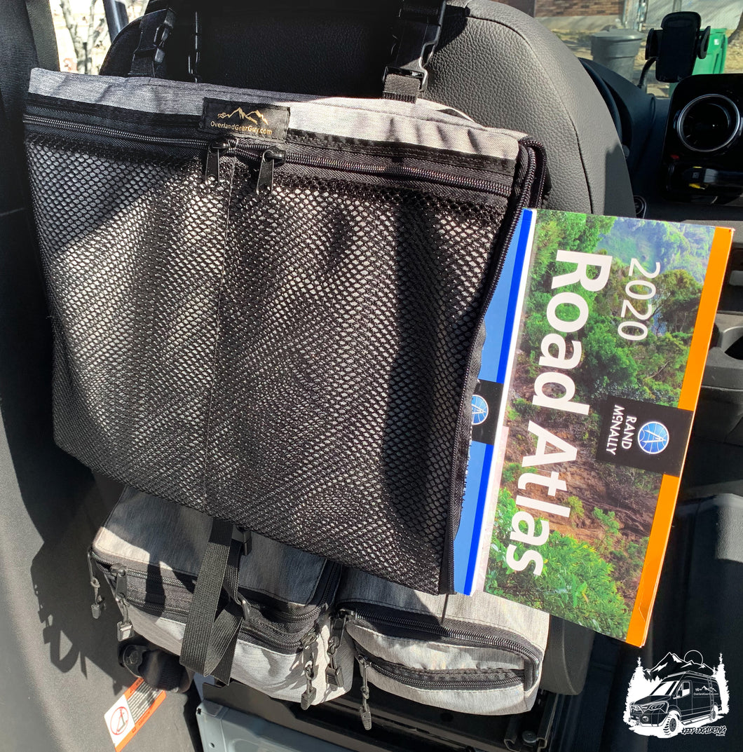 Road atlas pouch by Overland Gear Guy - Custom vehicle accessories