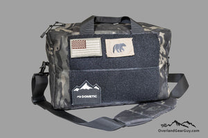 Custom Bauer Bag with MOLLE by Overland Gear Guy, Shoulder Bag with PALS webbing
