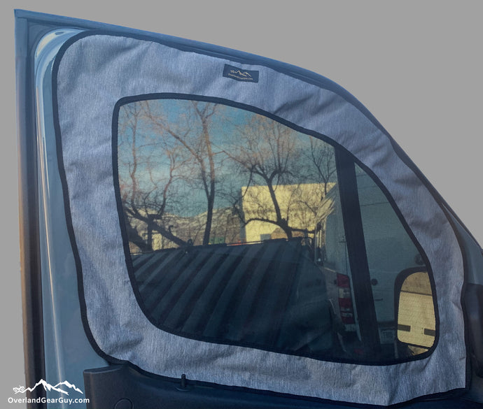Campervan Front Driver / Passenger Window Bug Screen by Overland Gear Guy
